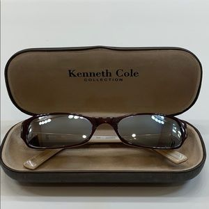 Kenneth Cole Women's Brown Rectangular Sunglasses